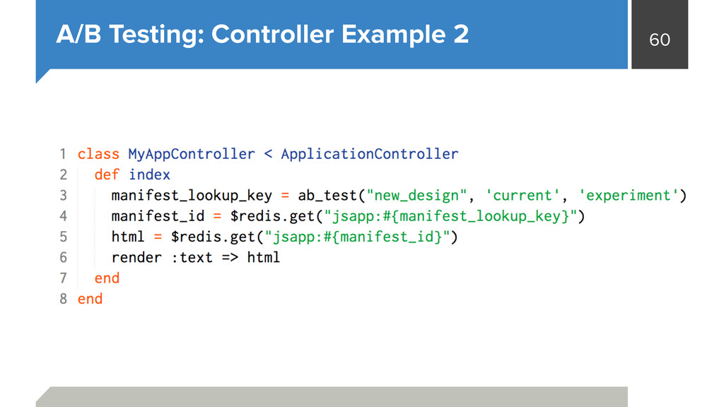 60 A/B Testing: Controller Example 2