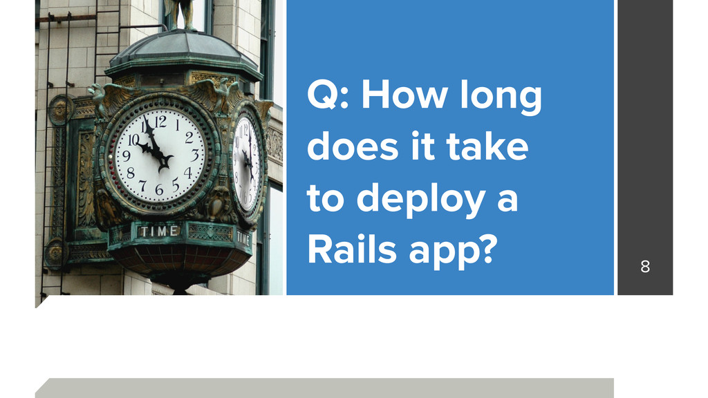 Q: How long does it take to deploy a Rails ap...