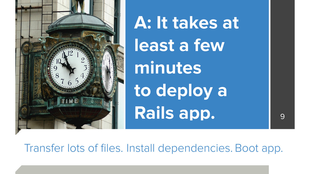 Install dependencies. Boot app. A: It takes at ...