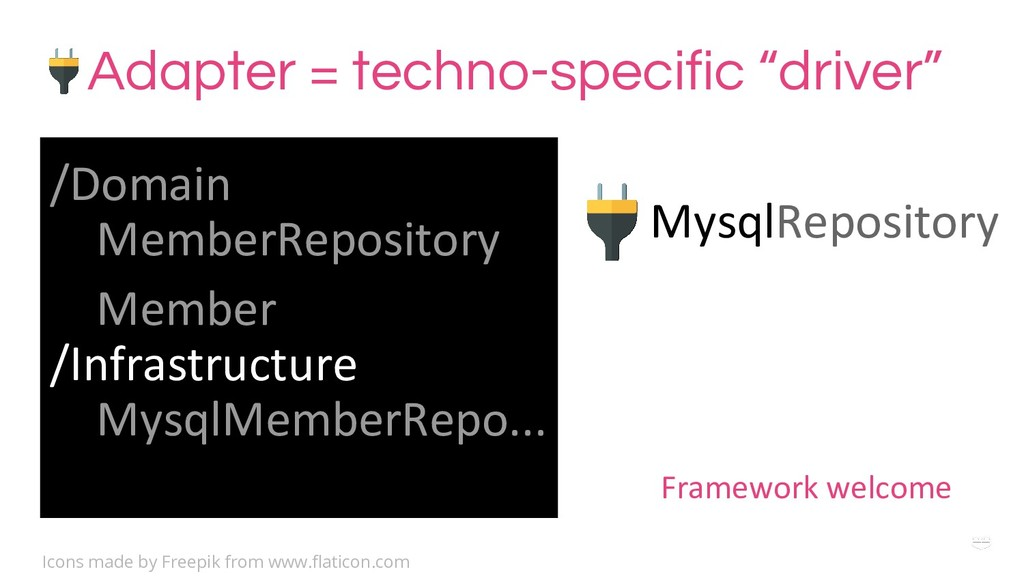 "WHY ? Adapter = techno-specific ""driver"" MysqlR..."