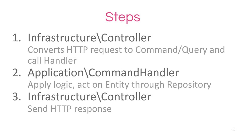 WHY ? Steps 1. Infrastructure\Controller Conver...