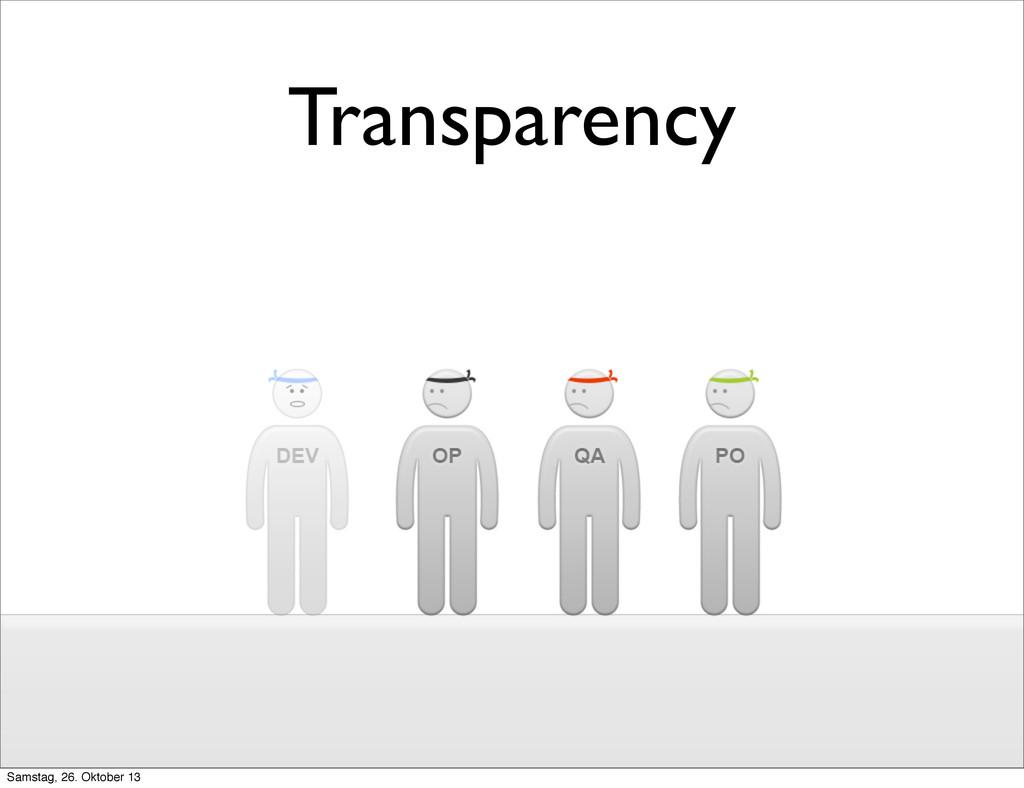 Transparency Samstag, 26. Oktober 13