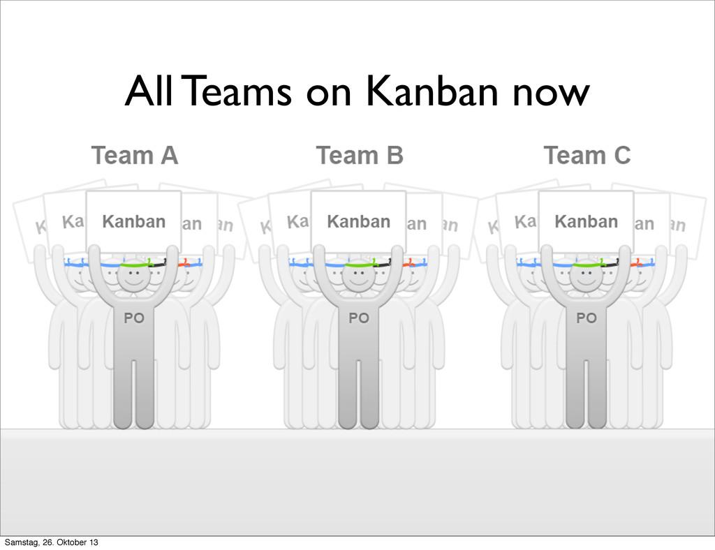 All Teams on Kanban now Samstag, 26. Oktober 13