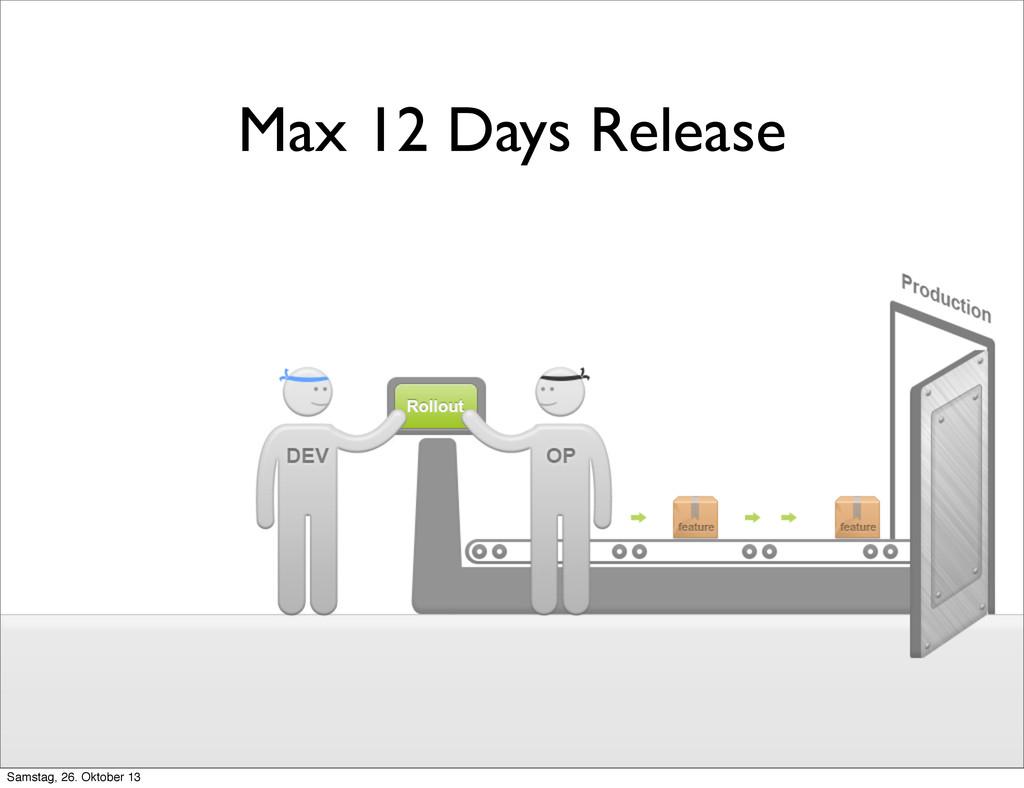 Max 12 Days Release Samstag, 26. Oktober 13