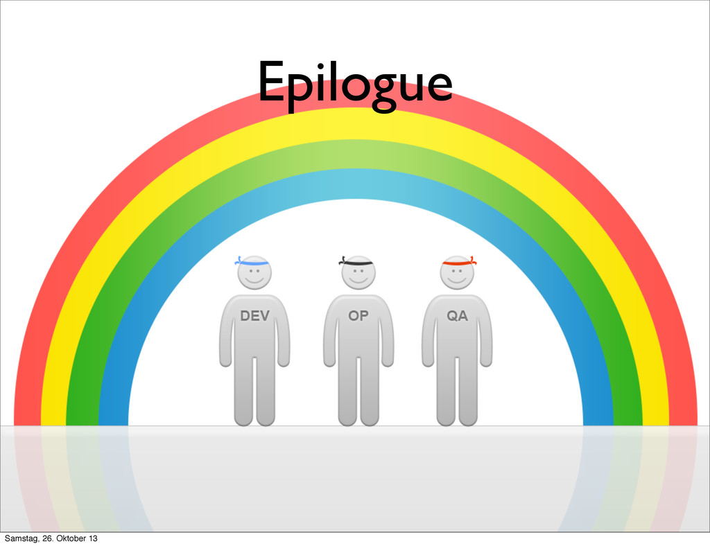 Epilogue Samstag, 26. Oktober 13