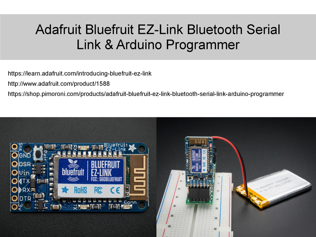 Adafruit Bluefruit EZ-Link Bluetooth Serial Lin...