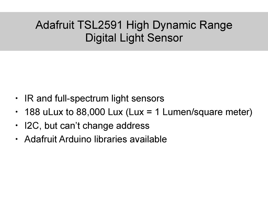 Adafruit TSL2591 High Dynamic Range Digital Lig...