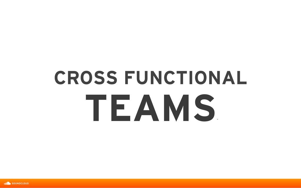 CROSS FUNCTIONAL  TEAMS ˝
