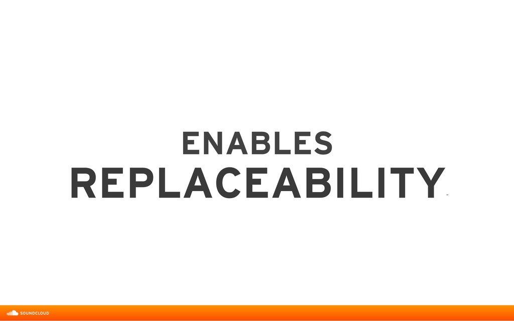 ENABLES  REPLACEABILITY ˝