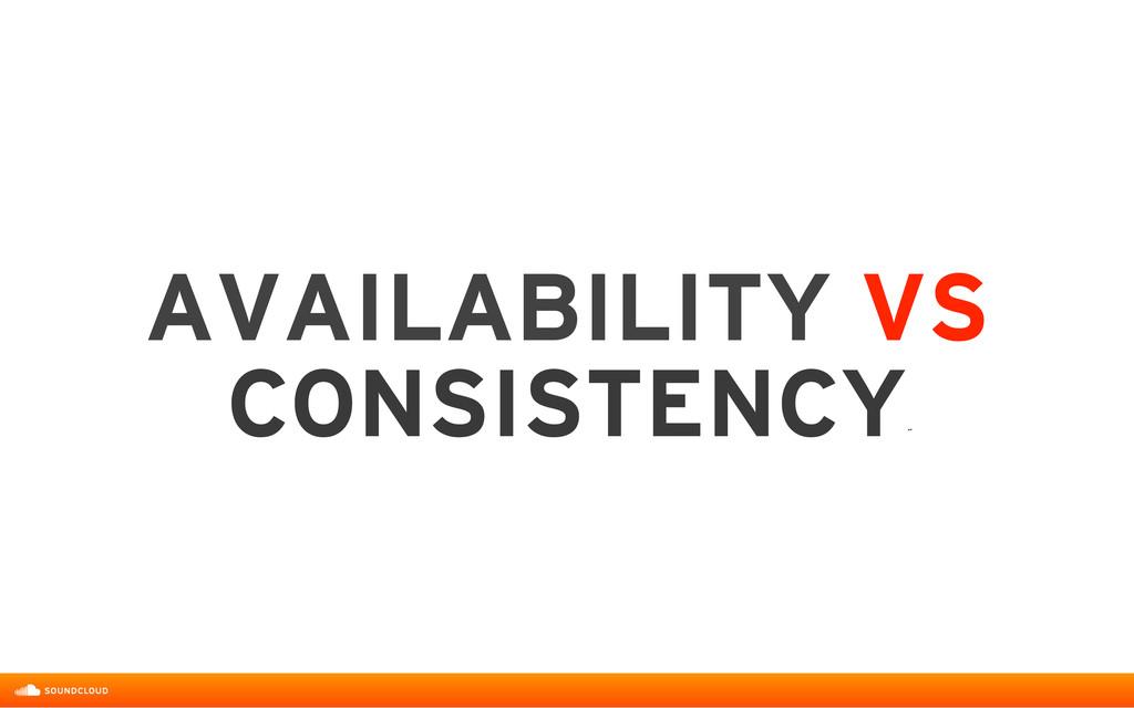 AVAILABILITY VS  CONSISTENCY ˝