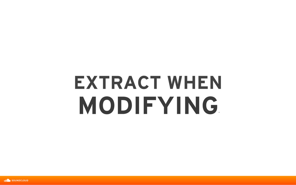 EXTRACT WHEN  MODIFYING ˝