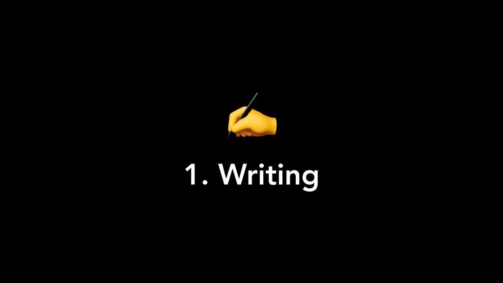 ✍ 1. Writing