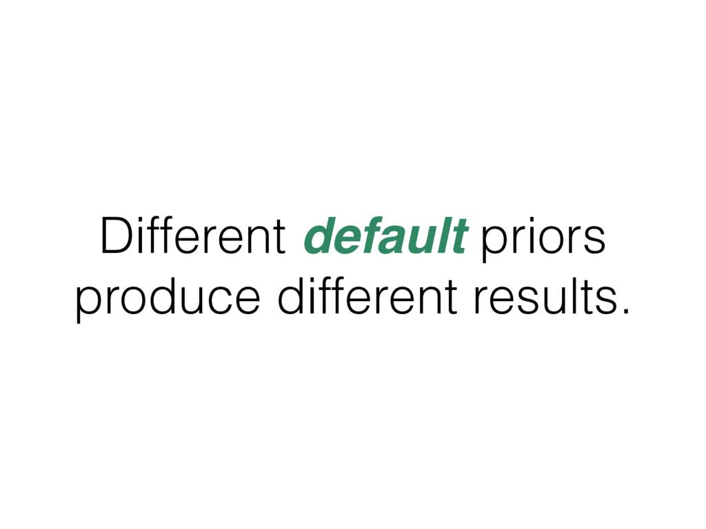 Different default priors produce different resu...