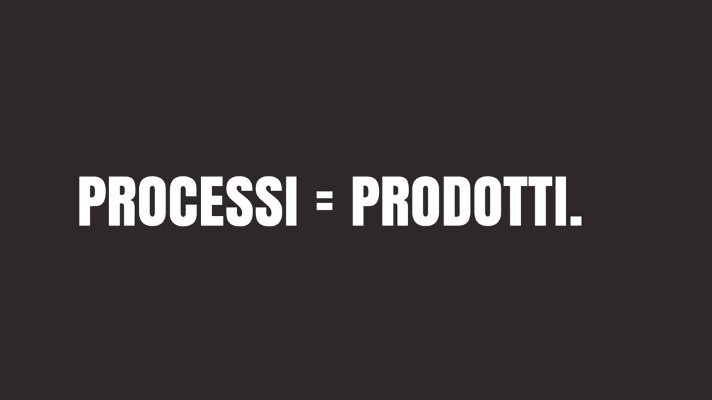 PROCESSI = PRODOTTI.