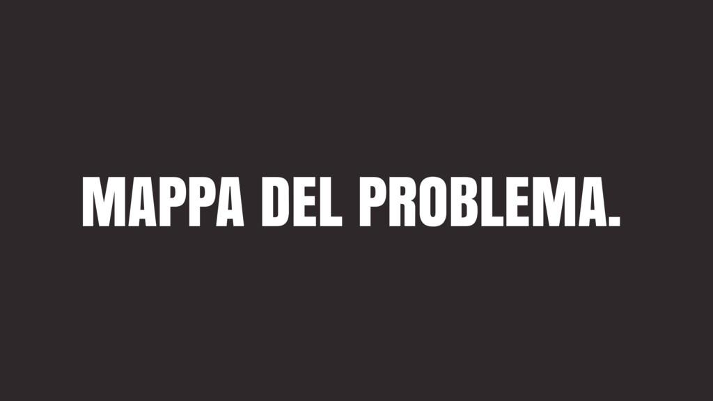 MAPPA DEL PROBLEMA.