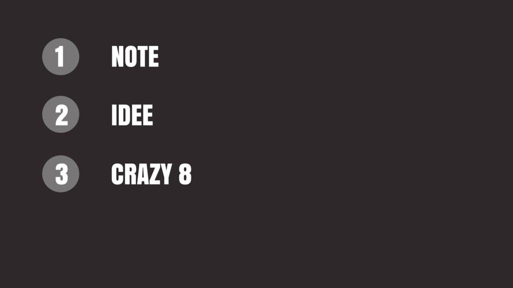 1 2 3 NOTE IDEE CRAZY 8
