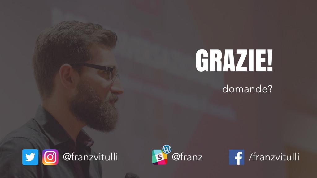 GRAZIE! @franzvitulli @franz /franzvitulli doma...