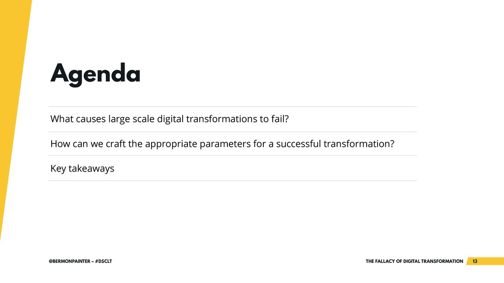 THE FALLACY OF DIGITAL TRANSFORMATION !13 @BERM...