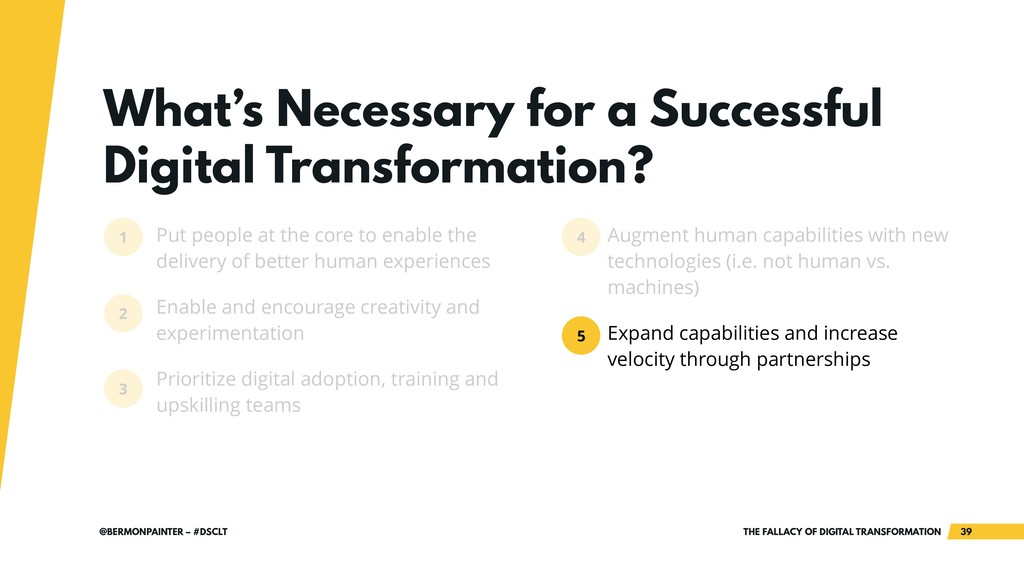 THE FALLACY OF DIGITAL TRANSFORMATION !39 @BERM...