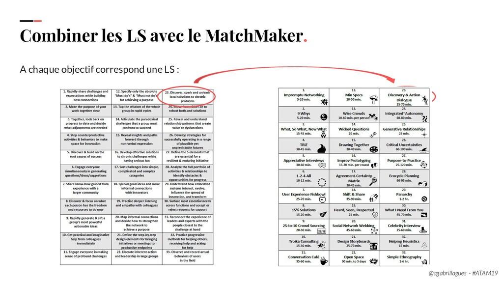 102 Combiner les LS avec le MatchMaker. A chaqu...