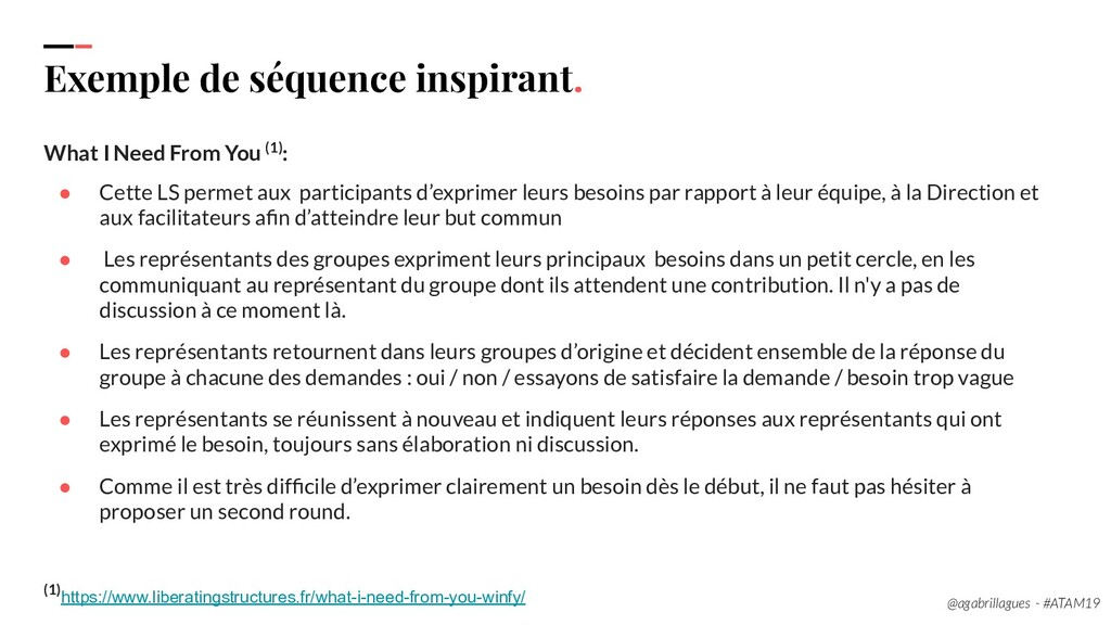 110. Exemple de séquence inspirant. What I Need...