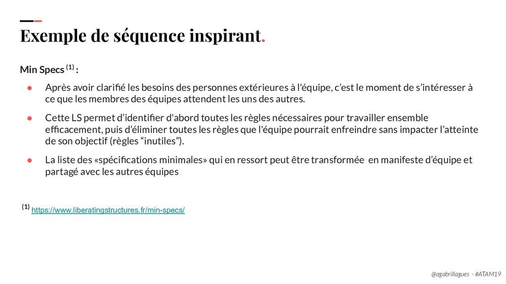 111. Exemple de séquence inspirant. Min Specs (...