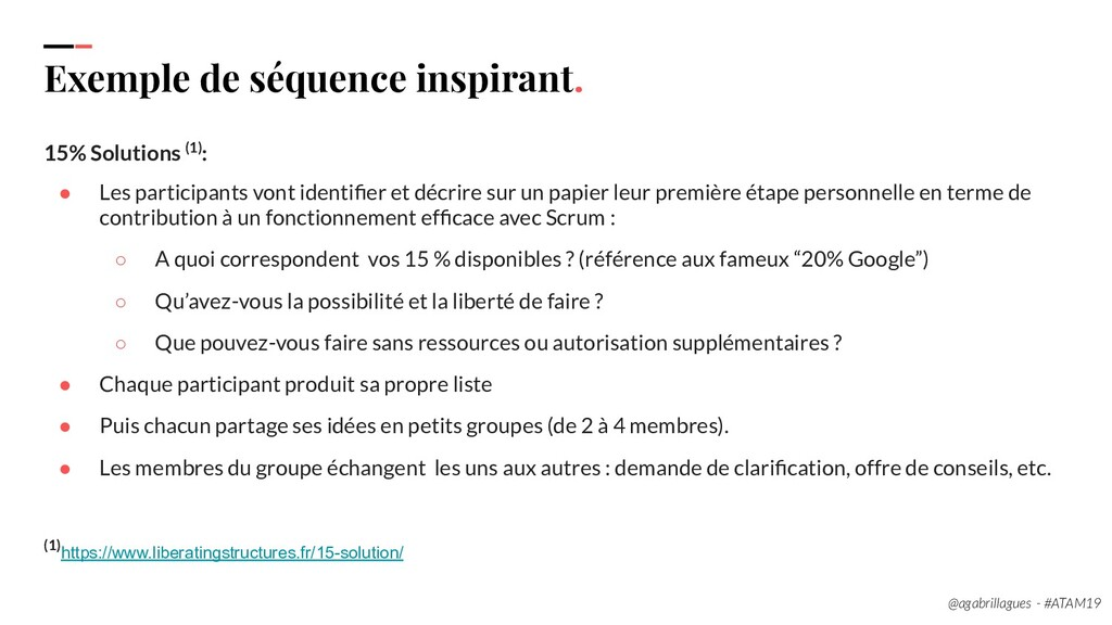 112. Exemple de séquence inspirant. 15% Solutio...