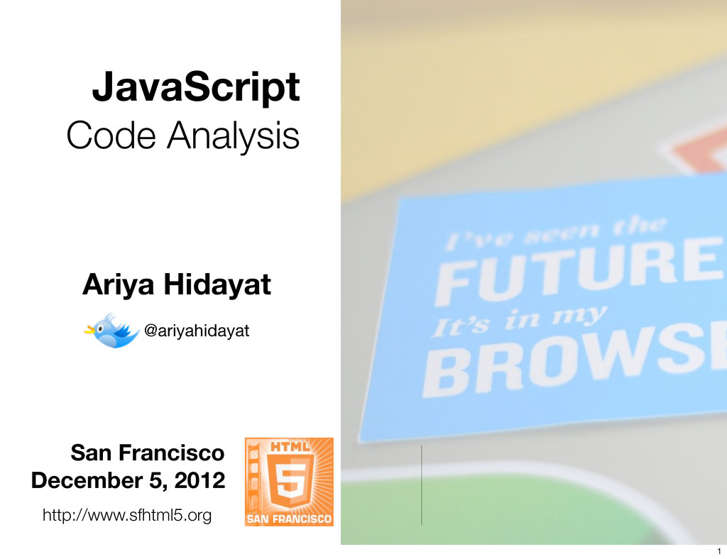 JavaScript Code Analysis San Francisco December...