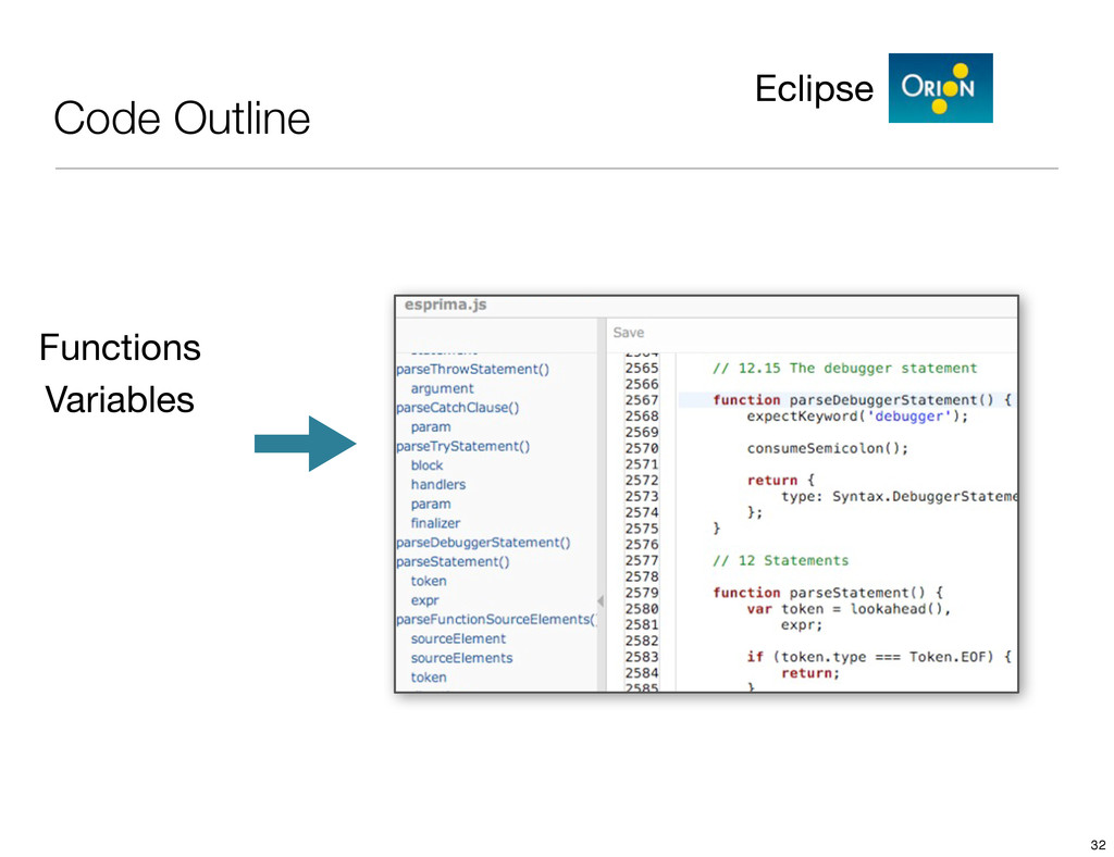 Code Outline Eclipse Functions Variables 32