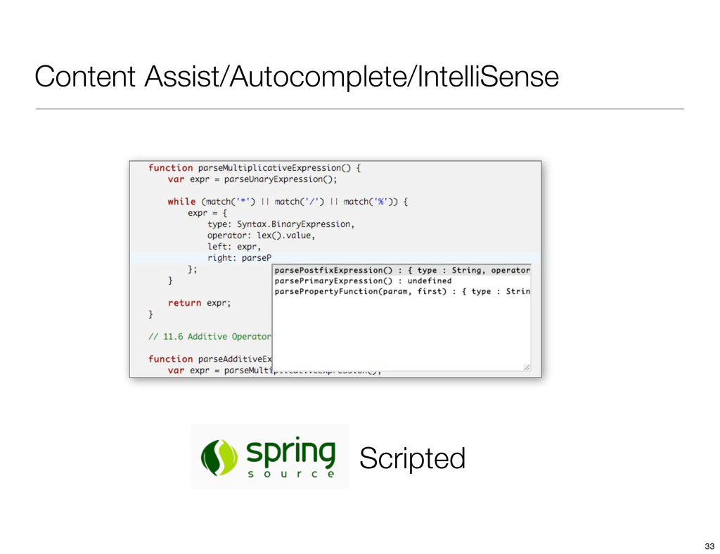 Content Assist/Autocomplete/IntelliSense Script...