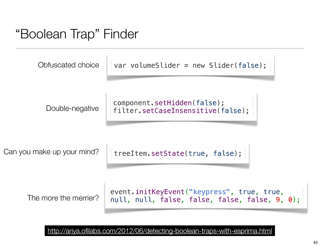 """Boolean Trap"" Finder Can you make up your mind..."