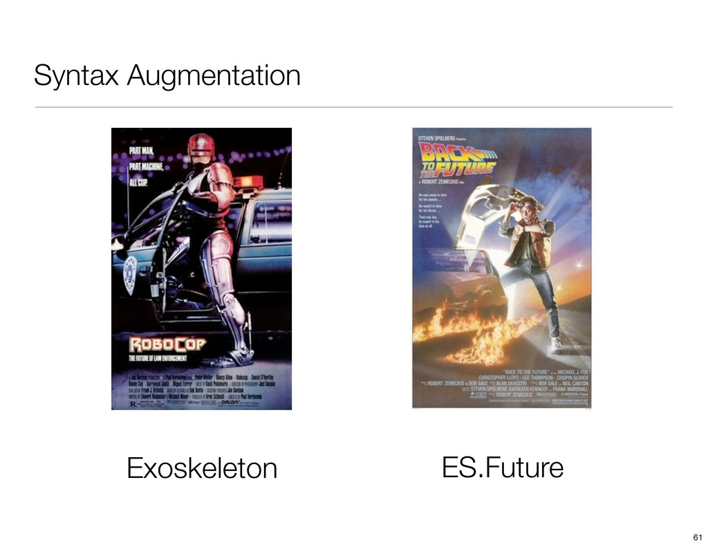 Syntax Augmentation ES.Future Exoskeleton 61