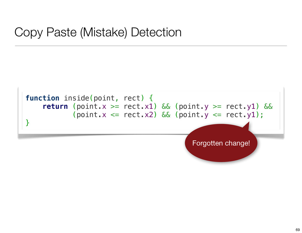 Copy Paste (Mistake) Detection function inside(...
