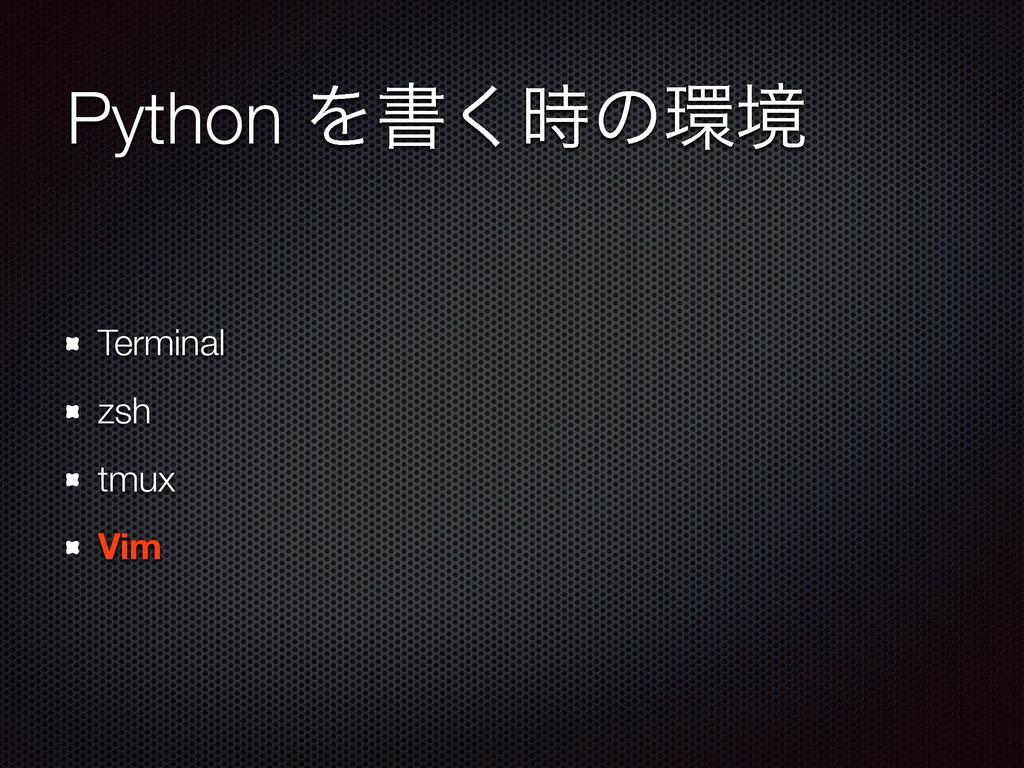 Python Λॻ͘ͷڥ Terminal zsh tmux Vim