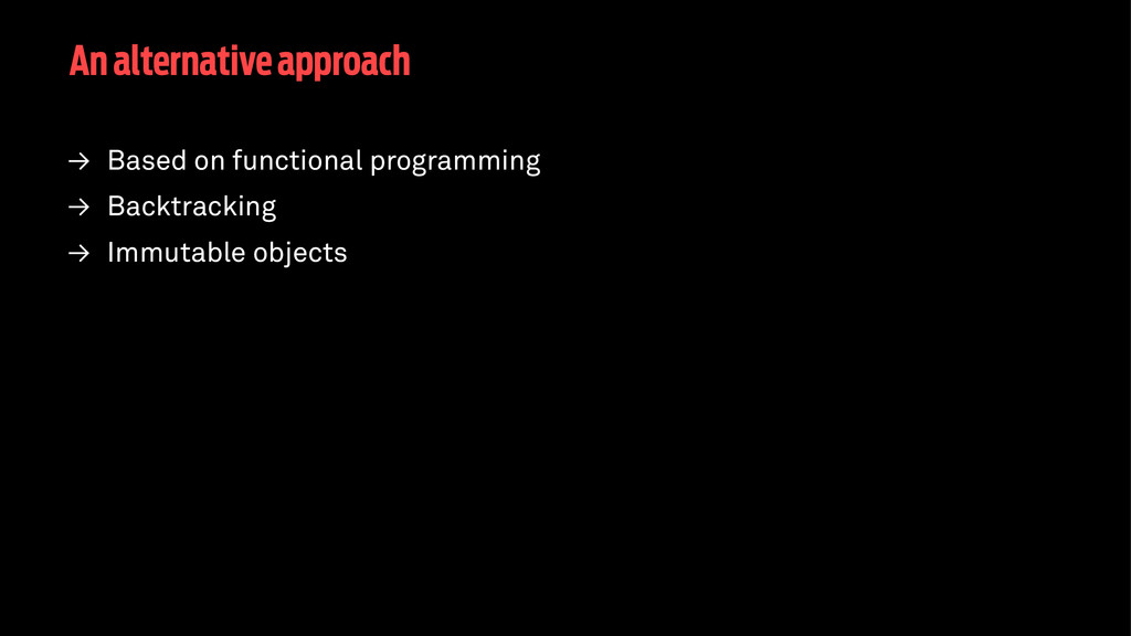 An alternative approach → Based on functional p...