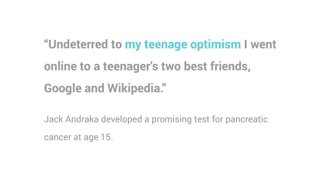 """""""Undeterred to my teenage optimism I went onlin..."""