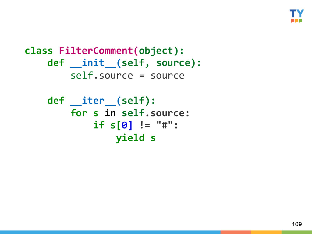 109 class FilterComment(object):    ...