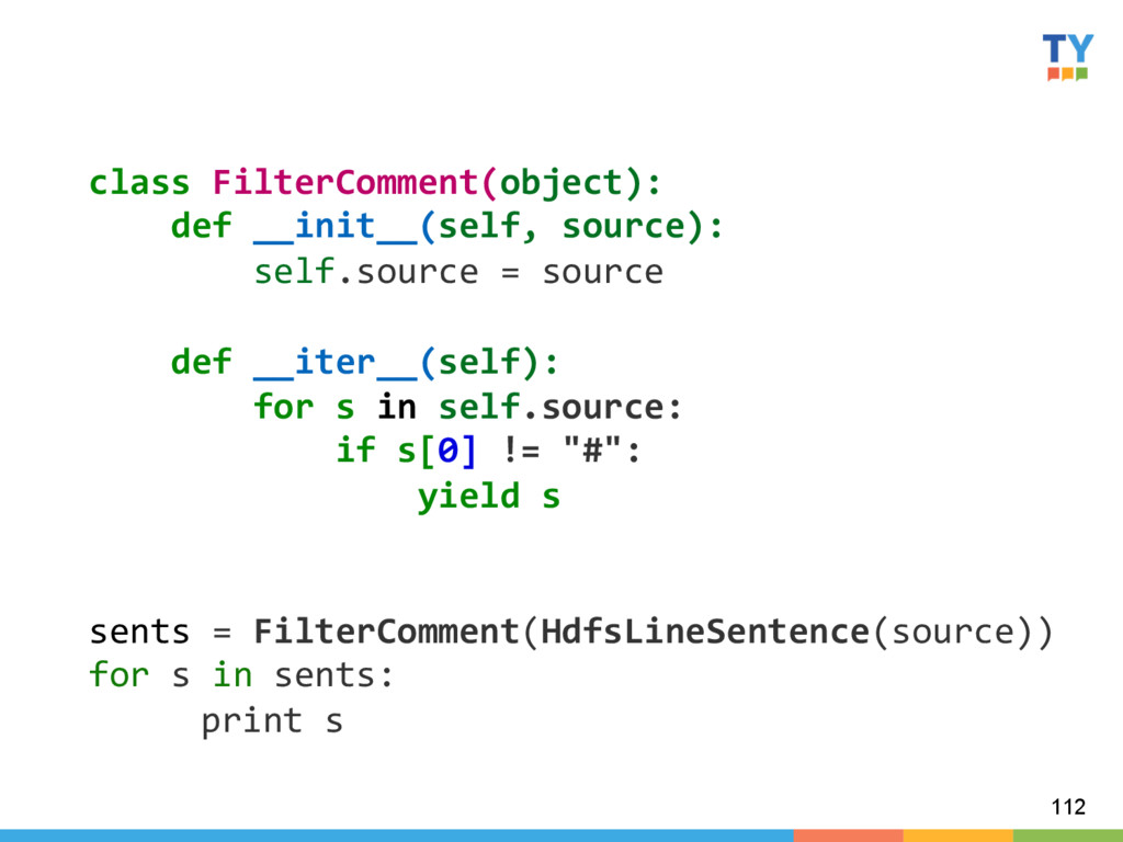 112 class FilterComment(object):    ...
