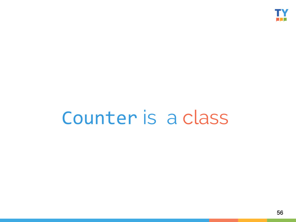 Counter is a class  56