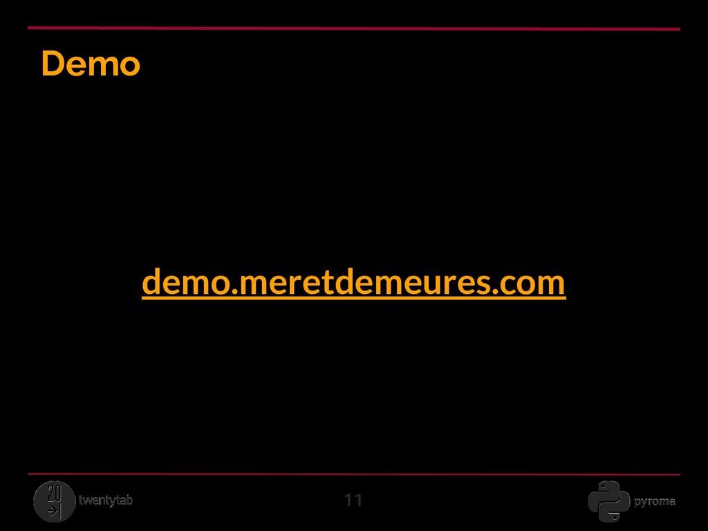 Demo 11 demo.meretdemeures.com