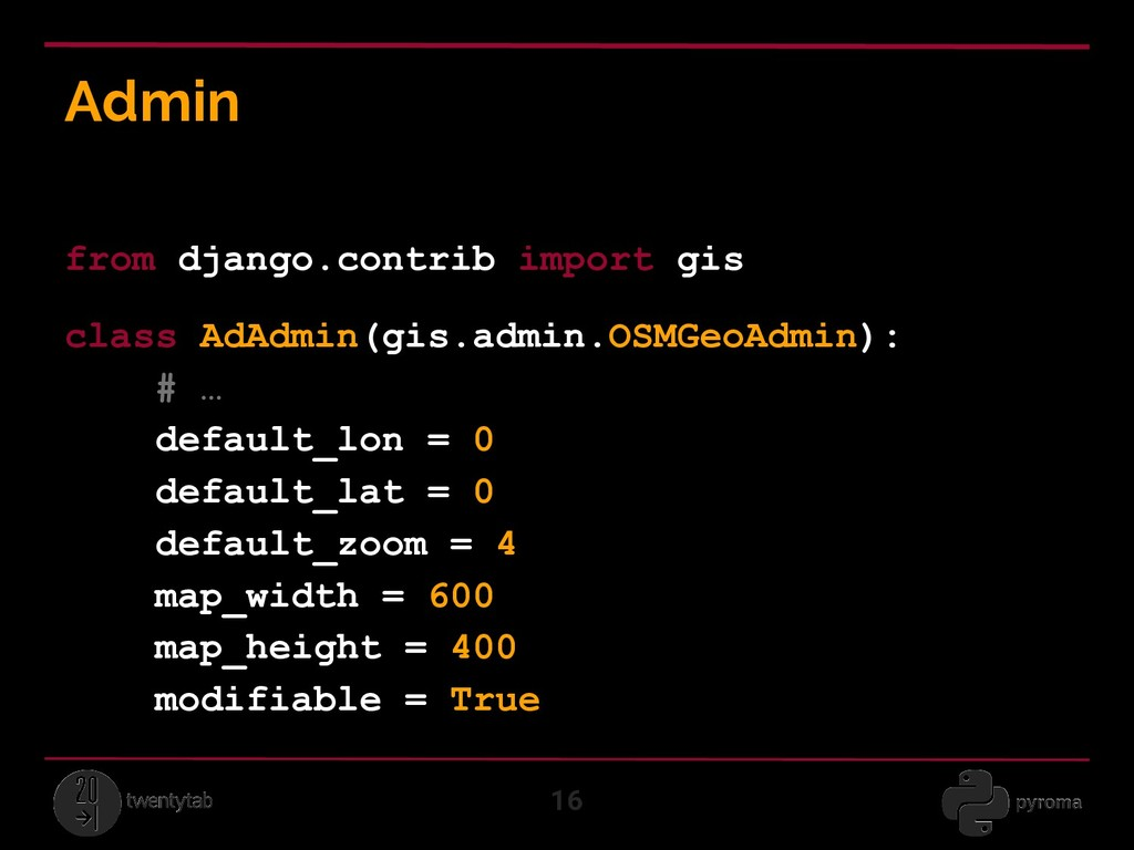 Admin 16 from django.contrib import gis class A...