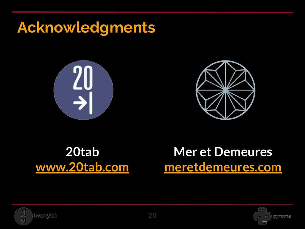Acknowledgments 20 Mer et Demeures meretdemeure...
