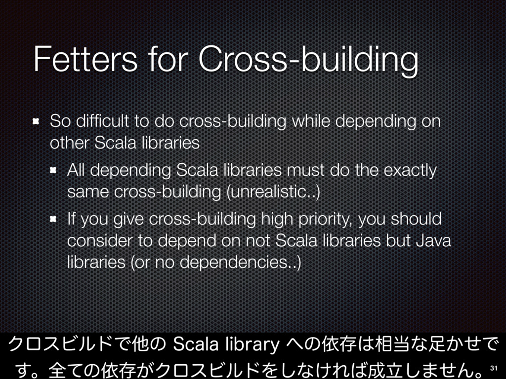 Fetters for Cross-building So difficult to do cr...