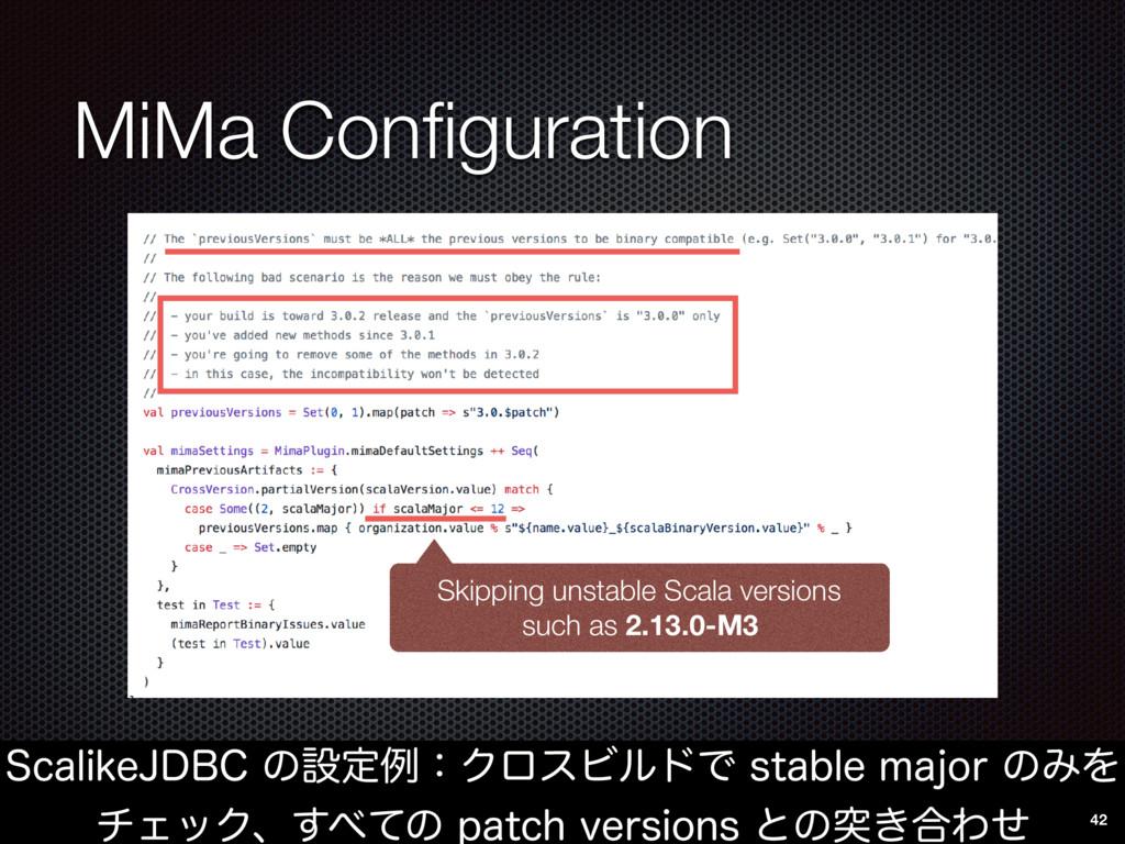 MiMa Configuration 4DBMJLF+%#$ͷઃఆྫɿΫϩεϏϧυͰTUBC...