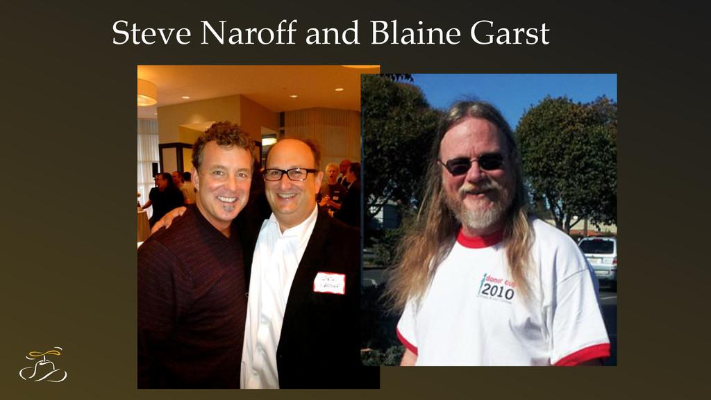 Steve Naroff and Blaine Garst