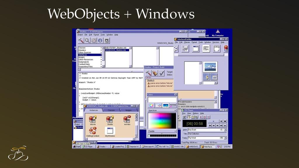WebObjects + Windows