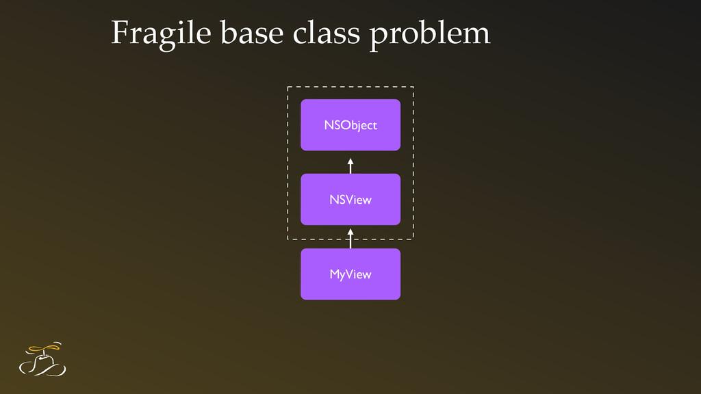 Fragile base class problem NSObject NSView MyVi...