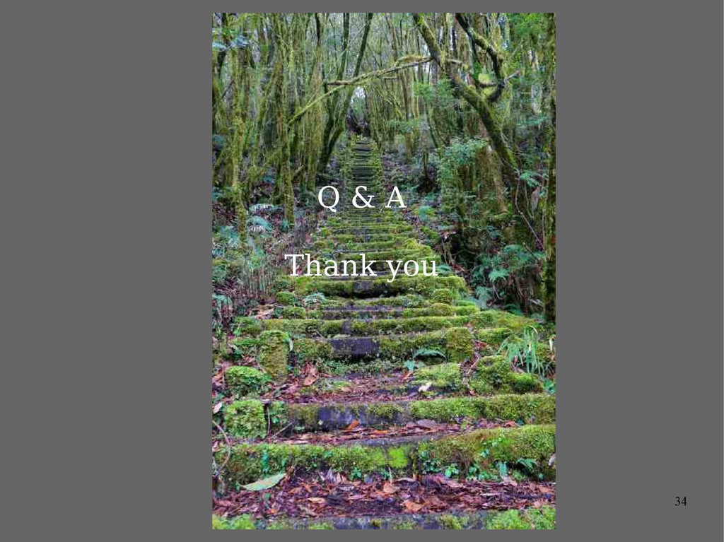 34 Q & A Thank you