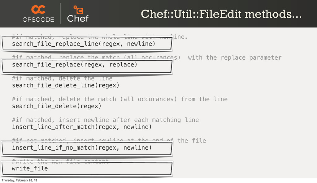 Chef::Util::FileEdit methods... #if matched, re...