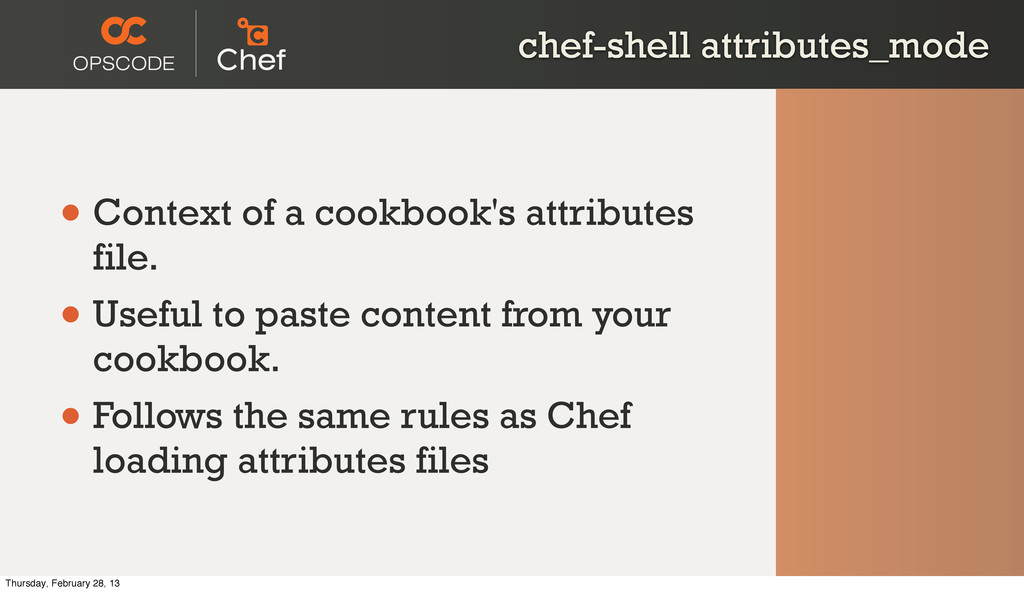 chef-shell attributes_mode • Context of a cookb...